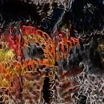 燃烧火焰底纹油画背景