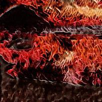 燃烧火焰欧式装饰壁画