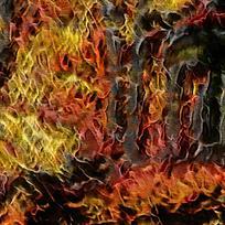 现代艺术装饰火焰油画