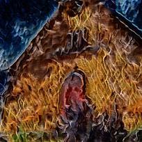 艺术火焰室内装饰油画
