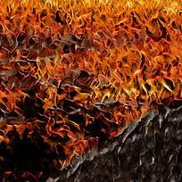 装饰火焰炫彩油画背景