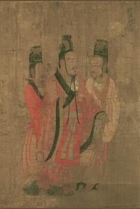 历代帝王图-汉昭帝刘弗陵