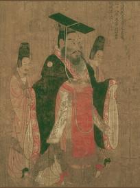 历代帝王图-后周武帝宇文邕