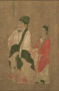 历代帝王图-南陈后主陈叔宝