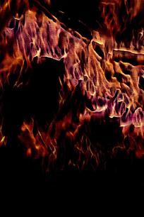 抽象飞腾火焰底纹背景
