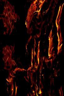 抽象黑金动感火焰装饰画