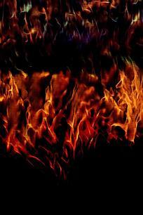 抽象火焰燃烧底纹背景