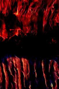 创意炽热火焰底纹背景