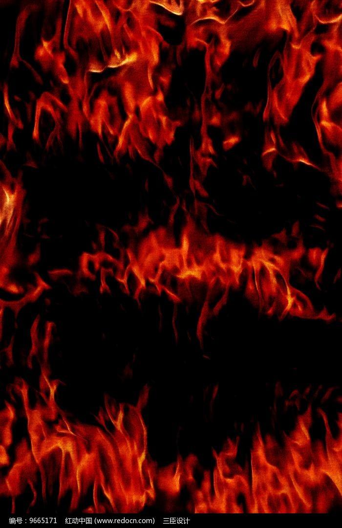 创意飞腾燃烧火焰底纹图片