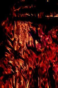 烈火冲天创意火焰背景