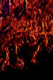 烈火燃烧创意装饰画