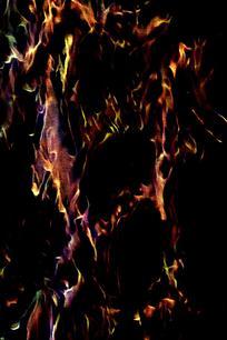 奢华棕色火焰印花背景