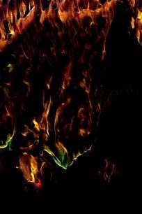 时尚飞舞火焰背景图案