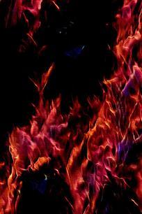 时尚酷炫火焰背景素材