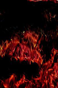 时尚震撼红色火焰背景