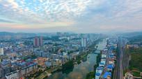 鸟瞰新兴城区云雾