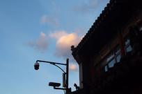 天空下的摄影头