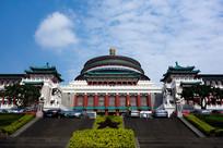 漂亮的重庆市人民大礼堂