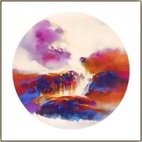 禅意山水中国风装饰画