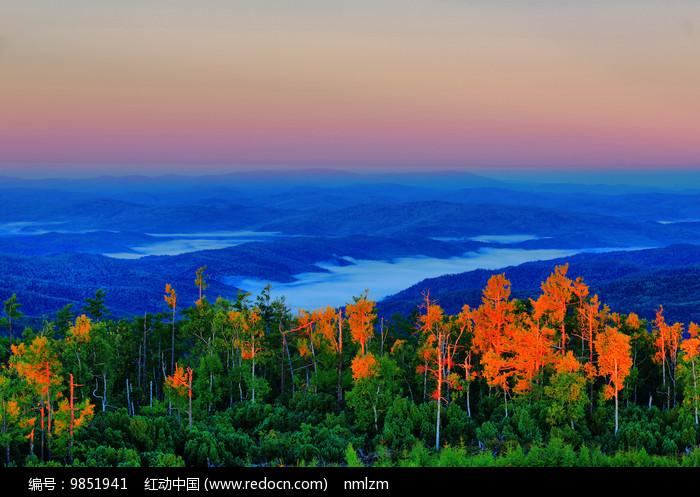 大兴安岭原始森林云雾图片