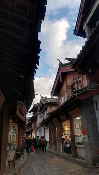 丽江古城的小巷子