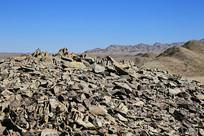 中国地理戈壁荒漠风化碎石山
