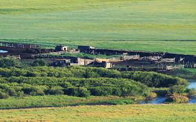 俄罗斯边塞村庄农民小屋
