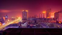 城市冬季夜景摄影