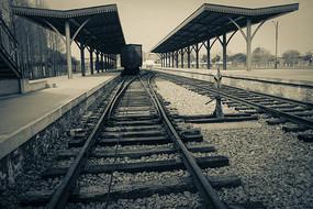 怀旧车站老火车