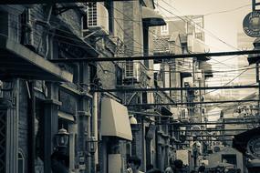 怀旧上海老弄堂