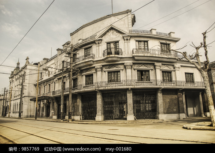 老上海旧街景图片