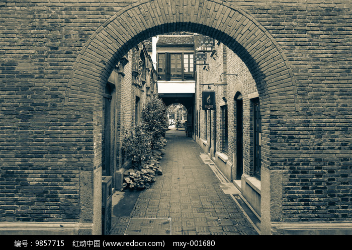 老上海砖墙图片