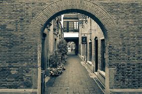 老上海砖墙
