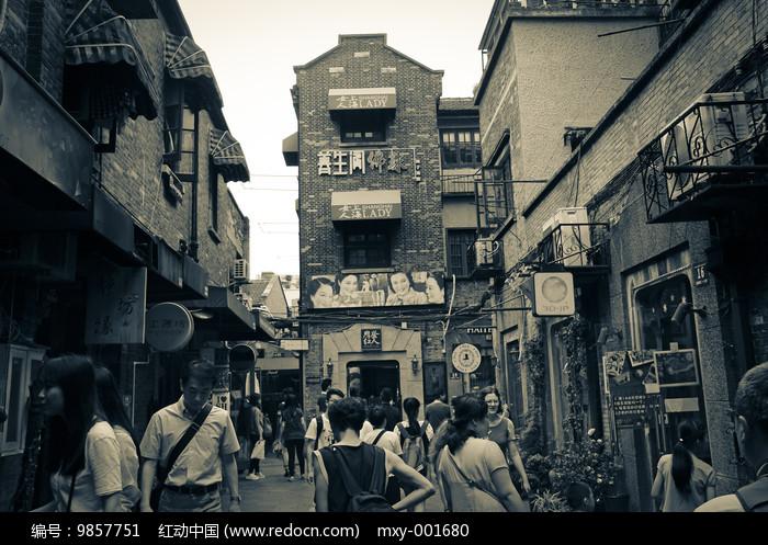 上海老街区田子坊图片