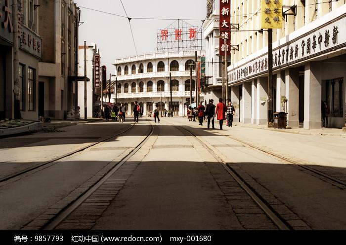 影视上海老街图片