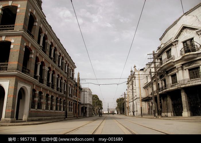 有轨电车街道图片