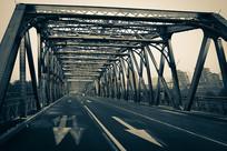 民国外白渡桥夜色