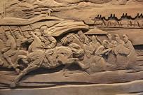 班超骑战马浮雕像