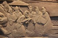 丝绸之路西域使者浮雕像