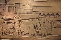 丝绸之路西域文化浮雕像