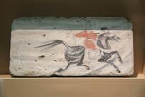 魏晋骑马狩猎图壁画砖