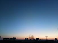 傍晚建筑摄影