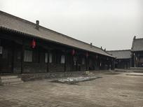 山西平遥古代大院长廊