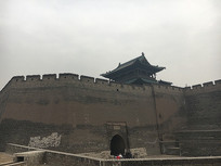 山西平遥古镇城楼外墙