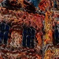 抽象宫殿建筑火焰底纹