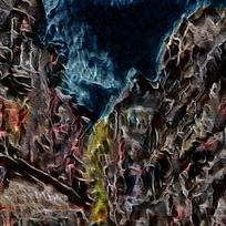 抽象建筑火焰底纹背景