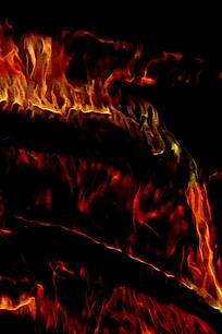 抽象艺术火焰背景