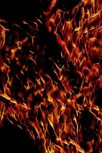 创意奔腾火焰背景