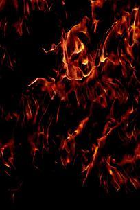 简约抽象火焰纹理背景
