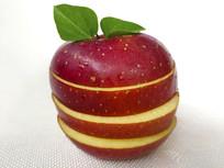 绿叶红苹果拍摄
